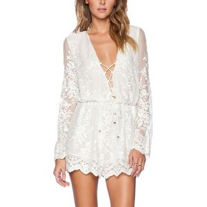 Zimmerman silk lace play suit - size AU 2 / US 6-8